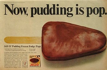 Old Jello Pudding Pops vintage ad