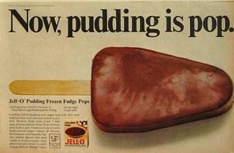 Old Jello Pudding Pops vintage ad