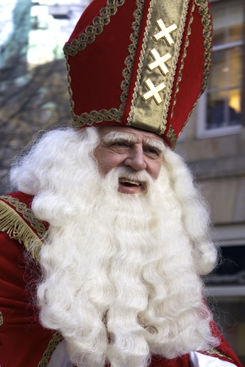 sinterklaas during the arrival ceremony in Amsterdam