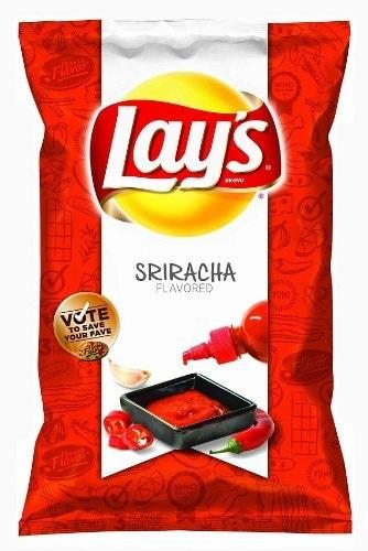 "Lay's Sriracha Flavored Potato Chips"" title=""Lay's Sriracha Flavored Potato Chips, limited edition"