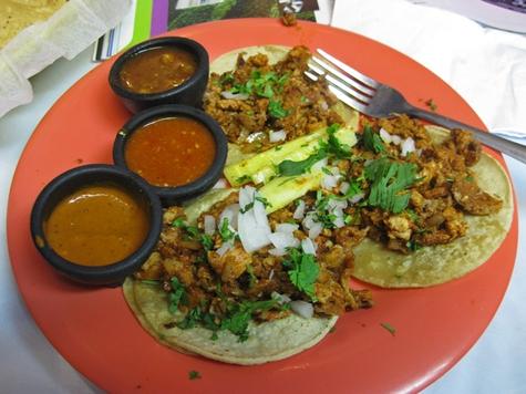 Tacos Al Pastor on plate