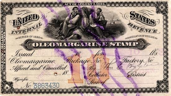 oleomargarine tax stamp