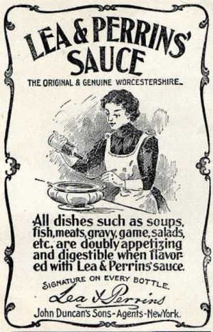 old vintage advertisement for Lea & Perrin's Worchestershire Sauce