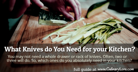 what knives do you need for your kitchen