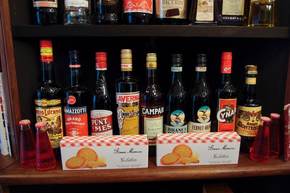 Selection of Italian Amari in Deli
