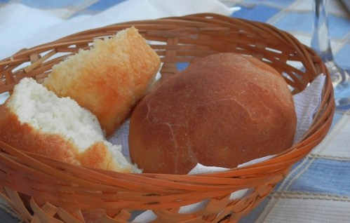 bread basket at restaurant