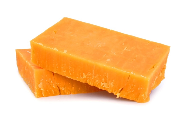 cheddar cheese isolated