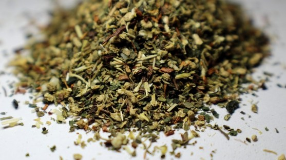Mix of dired herbs for herbal tea
