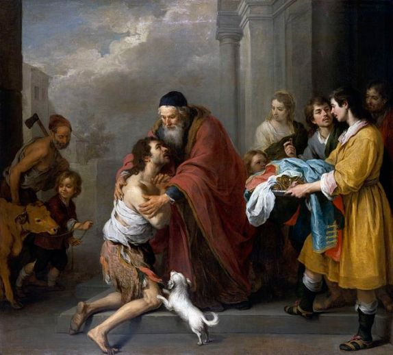 Return of the Prodigal Son painting