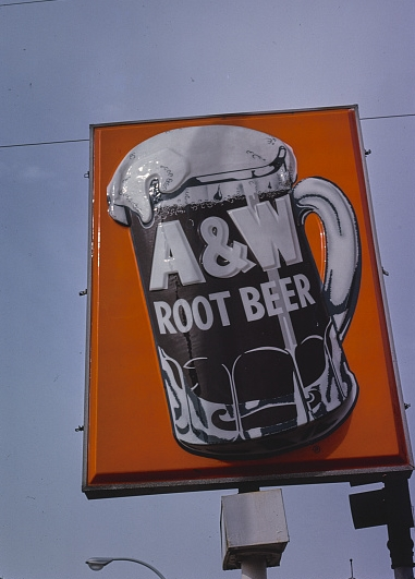 A&W Root Beer sign 1978, Richmond. California