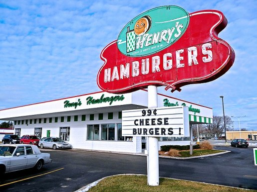 Henry's Hamburger sign, Benton Harbor, MI 2009