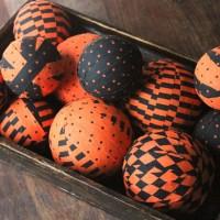 Halloween Fabric Balls