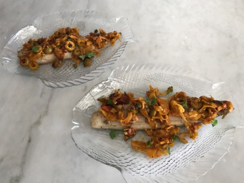 Baked Mackerel with Meditteranean Tapenade