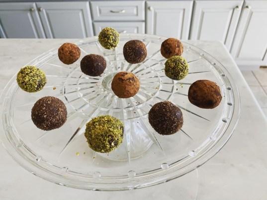 Marzipan Chocolate truffles