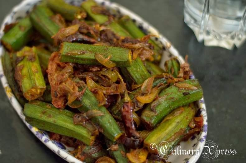 BHINDI DO PYAZA- OKRA STIR FRIED IN ONION & TOMATOES Recipe ...