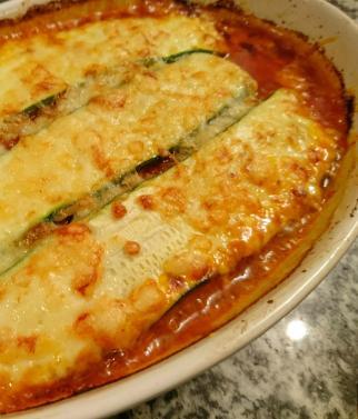 Low Carb Lasagne frisch aus dem Ofen