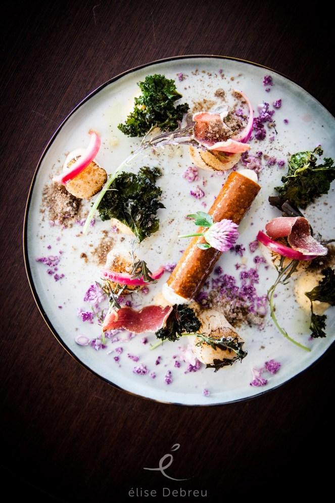 noix de saint jacques, kale, burrata, potimarron, gastronomie, cuisine saine