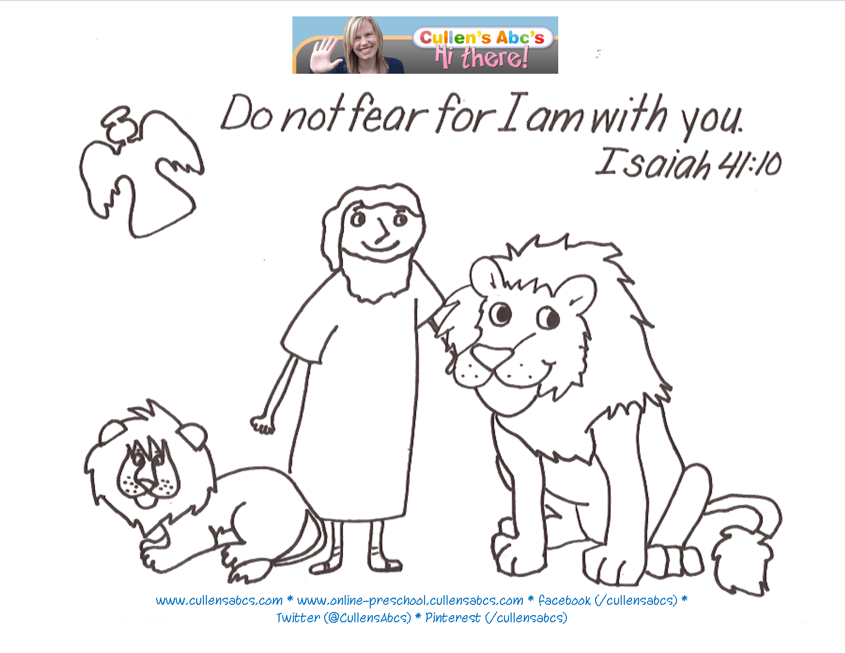 Daniel And The Lions Den Bible Memory Verse Coloring Page