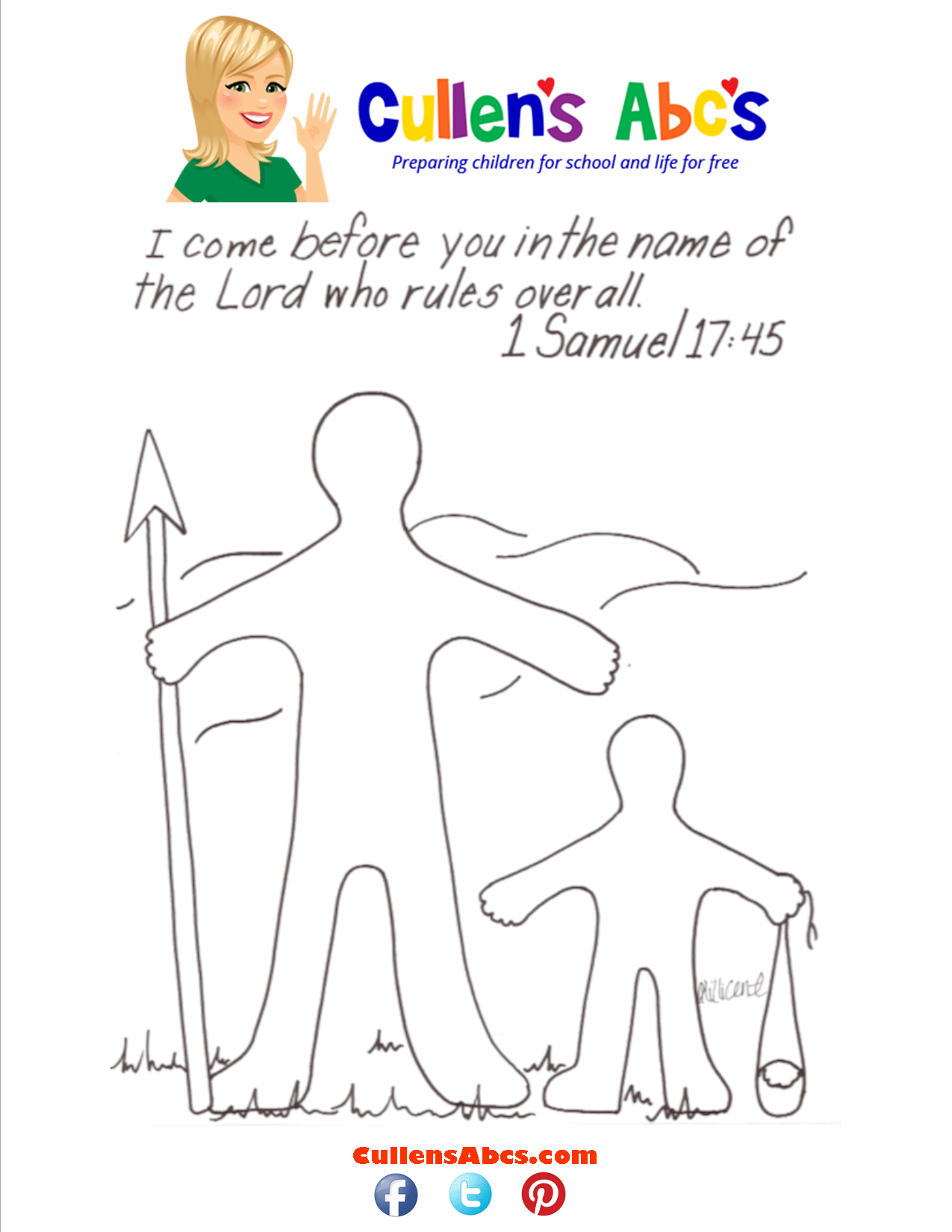 Bible Key Point Coloring Page