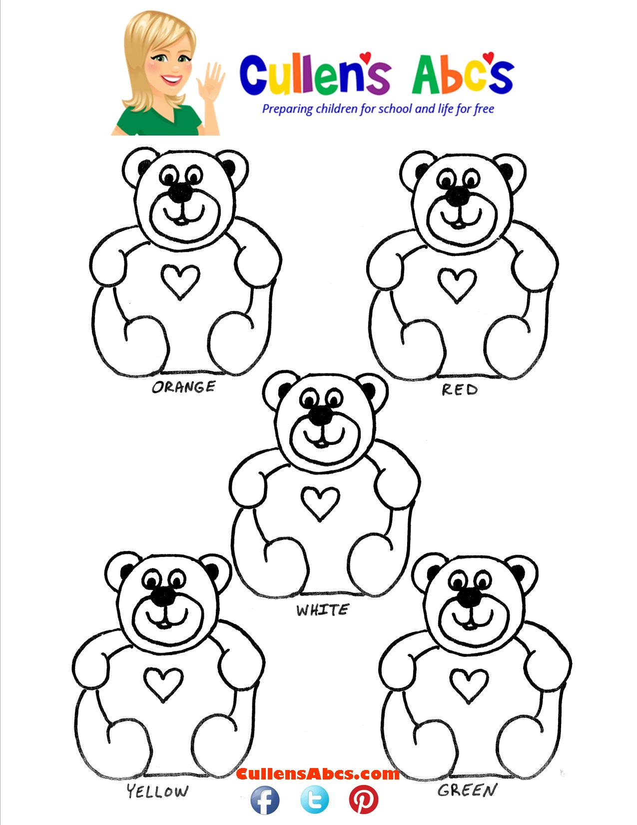 Gummy Bear Sorting Printable