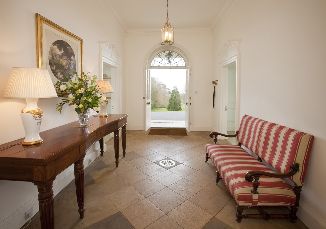 A classic country house entrance hallway home staged by Cullum Design   London UK