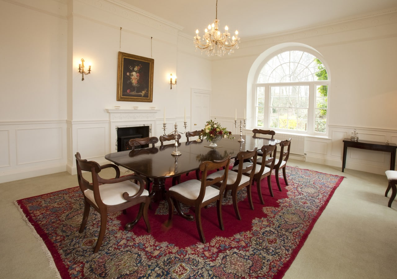 A classic country house dining room home staged by Cullum Design   London UK