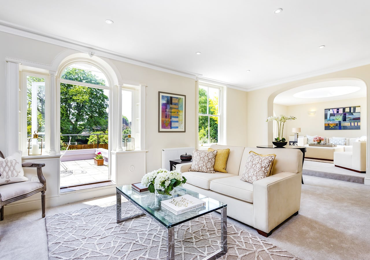 A classic contemporary Dulwich Townhouse reception room Home Staged by Cullum Design   London UK