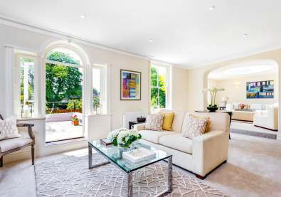 A classic contemporary Dulwich Townhouse reception room Home Staged by Cullum Design | London UK