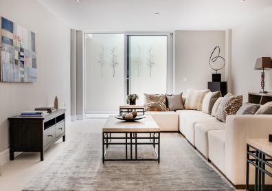 A classic contemporary Fulham Townhouse Media room designed by Nicola Scannell Design and Home Staged by Cullum Design | London UK