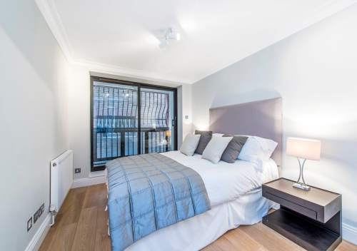 Light and spacious apartment bedroom home staged by Cullum Design | London UK