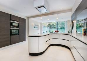 property styling, A classic contemporary Fulham Townhouse kitchen designed by Nicola Scannell Design and Home Staged by Cullum Design | London UK