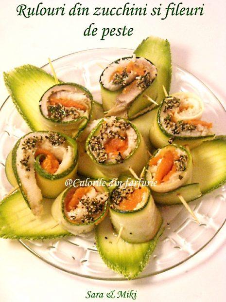 Rulouri din peste si zucchini 8