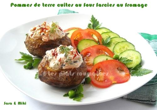 Pommes de terre cuites au four farcies au fromage 8
