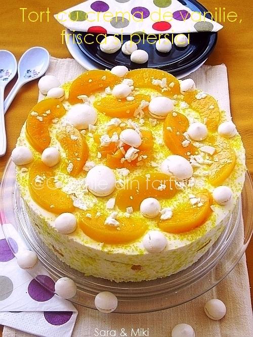 Tort-cu-crema-de vanilie, frisca-s-piersici 2