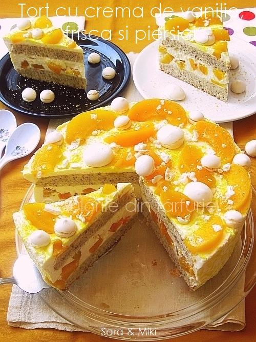 Tort-cu-crema-de vanilie, frisca-s-piersici 3