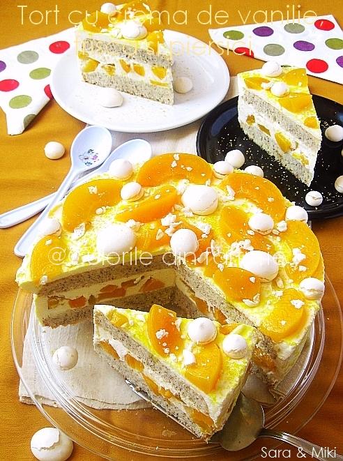 Tort-cu-crema-de vanilie, frisca-s-piersici 4