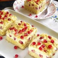 Prajitura cu rodie si crema de vanilie
