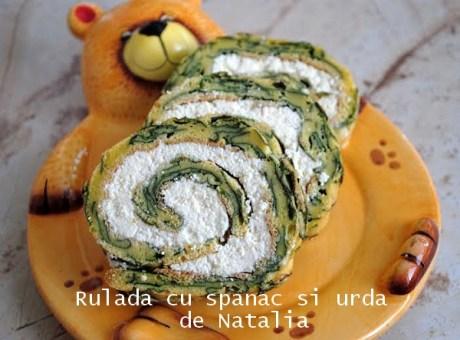 Rulada cu spanac si urda de Natalia