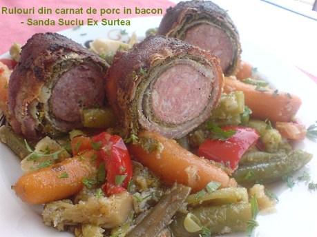 Rulouri din carnat de porc in bacon - Sanda Suciu Ex Surtea
