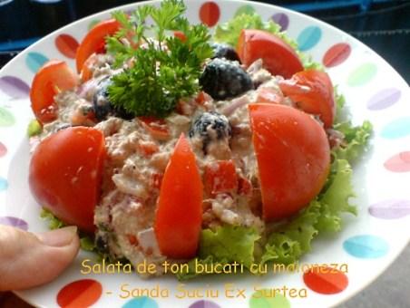 Salata de ton bucati cu maioneza - Sanda Suciu Ex Surtea