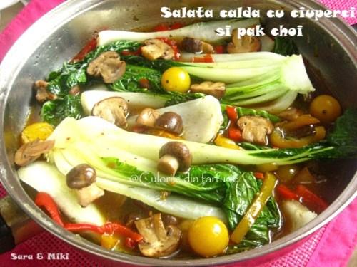 salata-calda-cu-ciuperci-si-pak-choi-2-1