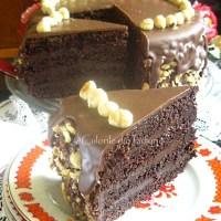 Tort de ciocolata cu nutella si alune de padure