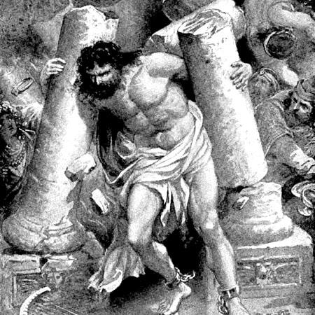 Samson destroying the Temple