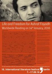 free ashraf fayadh
