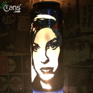 Amy Winehouse Beer Can Lantern