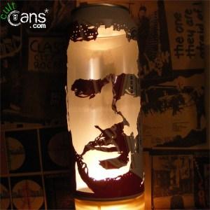 Eric Cantona Beer Can Lantern