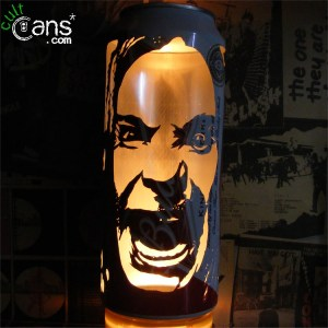 Ozzy Osbourne Beer Can Lantern