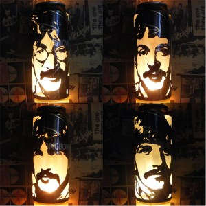 The Beatles 'Sgt. Pepper's' Beer Can Lanterns