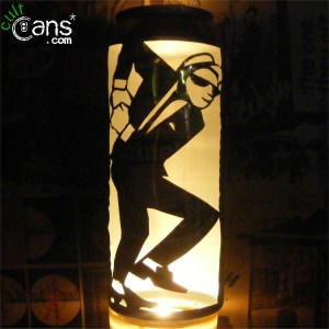 2 Tone Dancer Beer Can Lantern
