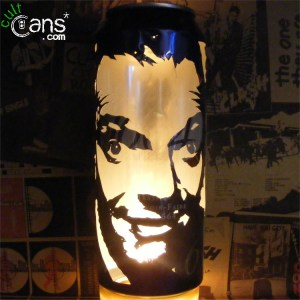 Rik Mayall Beer Can Lantern